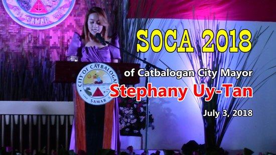 SOCA 2018 of Catbalogan City mayor Stephany Uy-Tan